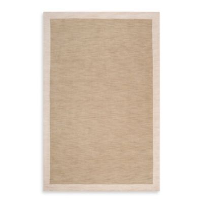angelo:HOME Madison Square Bordered 5-Foot x 7-Foot 6-Inch Rug in Tan