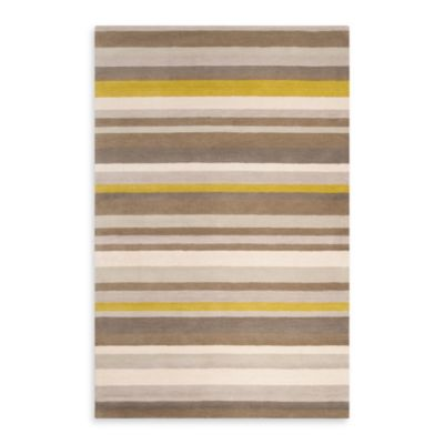 8 Yellow Square Rug