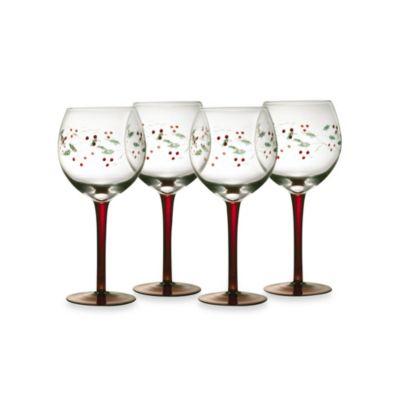 Pfaltzgraff® Winterberry 13-Ounce Wine Goblets (Set of 4)