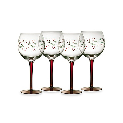 Pfaltzgraff® Winterberry 13-Ounce Wine Goblets (Set of 4)