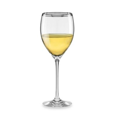kate spade new york Library Lane Platinum 10-Ounce Wine Glass