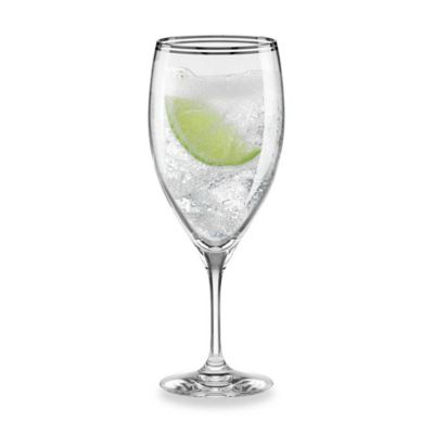 kate spade new york Library Lane Platinum 12-Ounce Iced Beverage Glass