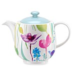 Portmeirion® Water Garden 1-Quart Teapot with Blue Glaze