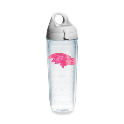 Tervis® Baltimore Ravens 24-Ounce Emblem Water Bottle in Neon Pink