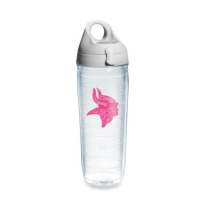 Tervis® Minnesota Vikings 24-Ounce Emblem Water Bottle in Neon Pink