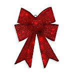 17-Inch Battery Operated LED Lighted Red Bow