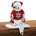 Knit Teddy Bear Stocking Hanger