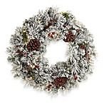 Flocked 26-Inch Baywood Wreath