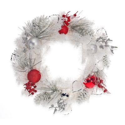 24-Inch Decorated Winter Wreath
