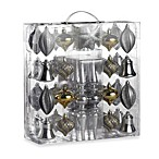 Value Pack of Ornaments in Silver (Set of 43)
