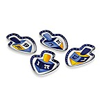 Hanukkah Ceramic Dreidel Dishes (Set of 4)