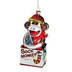 Ornamental Glass Sock Monkey