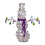 47-Inch Jeweled Crystal Chandel-Snowman