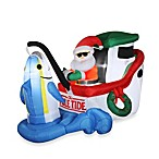 55-Inch Inflatable Santa Fishing Tuna