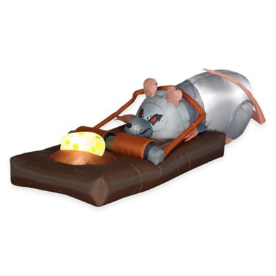 Inflatable Outdoor 2-Foot Animated Rat in the Trap