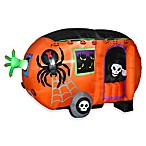Inflated 5-Foot Animated Halloween Camper