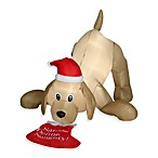4-Foot Animated Inflatable Golden Retriever