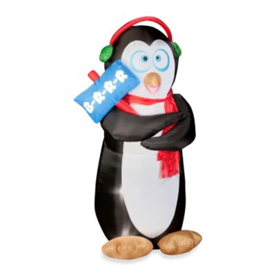 Airblown® Inflatable Outdoor 6-Foot Animated Shivering Penguin