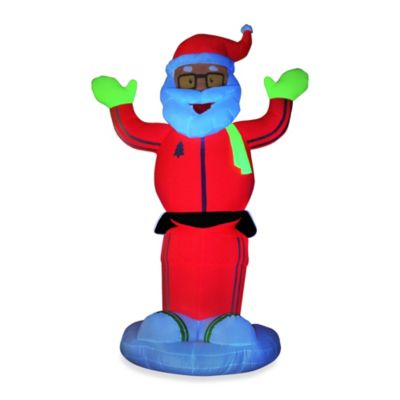 Inflatable Outdoor 6-Foot Animated Neon Dancing Santa