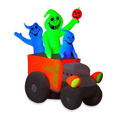 Inflatable Outdoor 6-Foot Halloween Neon Hot Rod Ghosts