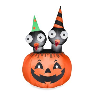 Inflatable Outdoor 4-Foot 6-Inch Jac-O-Lantern Scene