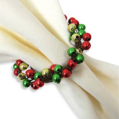 Holiday Spirit Napkin Rings (Set of 4)