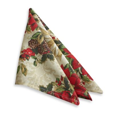 Seasonal Splendor 4-Pack of Napkins