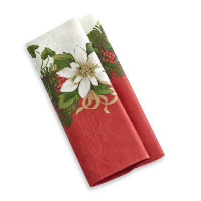 Christmas Garland 4-Pack of Napkins