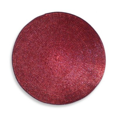 Shine Round Placemat in Deep Red