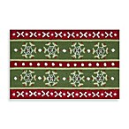 Nourison Handhook Holiday Accent Rug in Snowflake Pattern