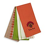 Turkey Time Thanksgiving Kitchen Towels (Set of 5)