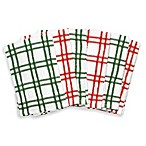 Plaid Bar Mop Towel in Red/Green
