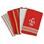 Candy Cane 5-Pack of Kitchen Dishtowels