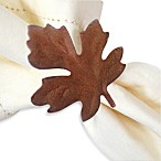 Falling Maple Leaf Napkin Ring