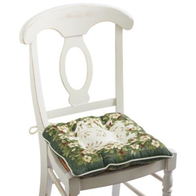 Joyous Holiday Reversible Chair Pad with Chair Ties