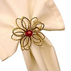 Poinsettia Napkin Ring (Set of 4)