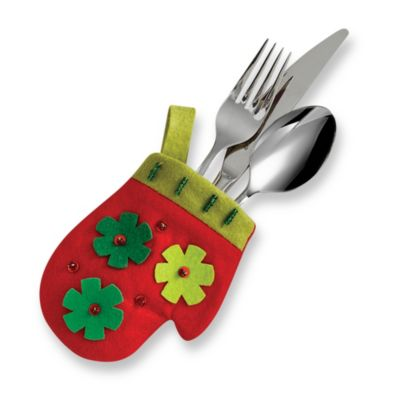 Christmas Mitten Utensil Holder (Set of 4)