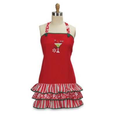 Celebrate Frill Embroidered Apron – 100% Cotton