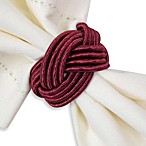 Braided Cord Napkin Ring in Red