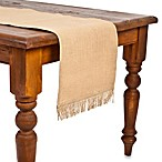 ecoaccents® Natural Burlap Table Runner with Fringe
