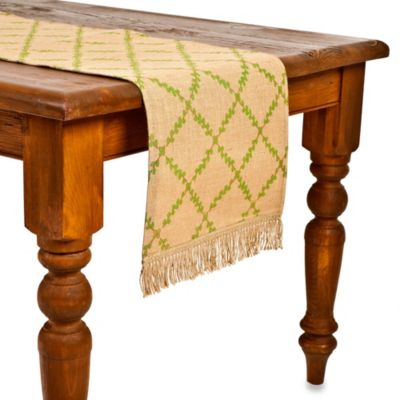 Ecoaccents Trellis Burlap Table Runner