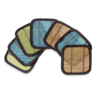 Bamboo Coasters (Set of 6) in Multi-Color