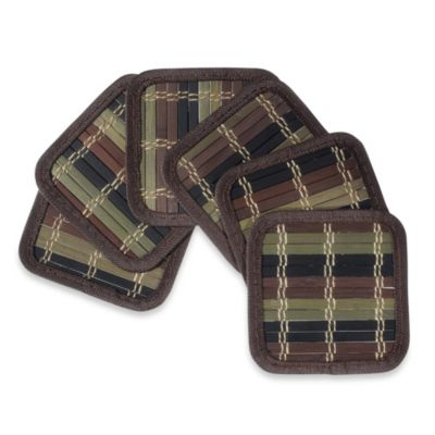 Bamboo Coasters (Set of 6) in Color Degrade