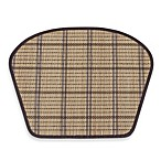 Wedge-Shaped Bamboo Placemat in Natural/Chocolate