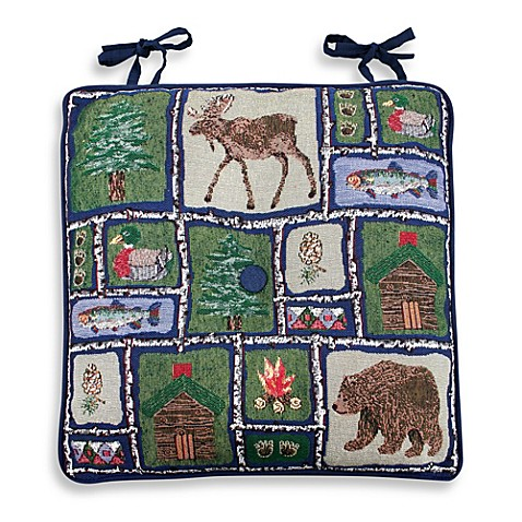 Park B Smith 174 Lodge Sampler Tapestry Chair Pads Bed