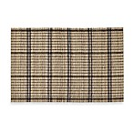 Bamboo Placemat in Natural Plaid