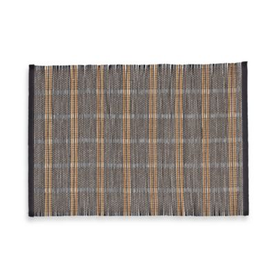 Bamboo Placemat in Black Checker