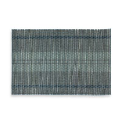 Rugby Blue Stripe Bamboo Placemat