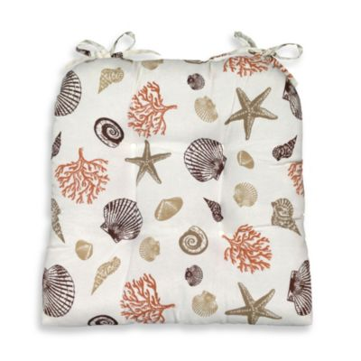 Seashore Coral Chair Pad