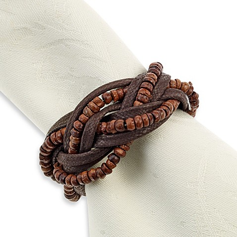 Beaded Leather Southwest Napkin Ring